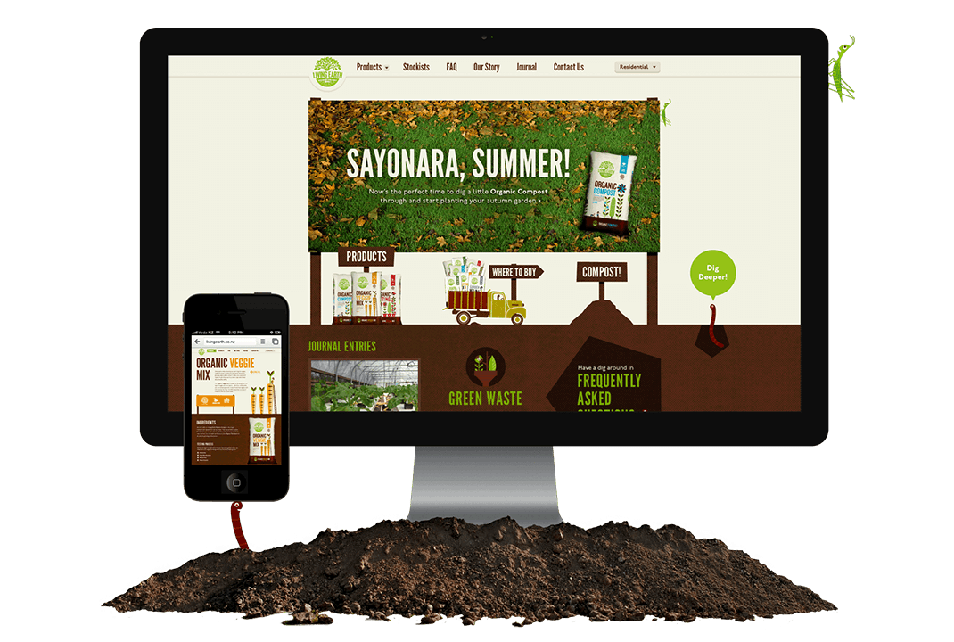 living-earth fracture html5 website design